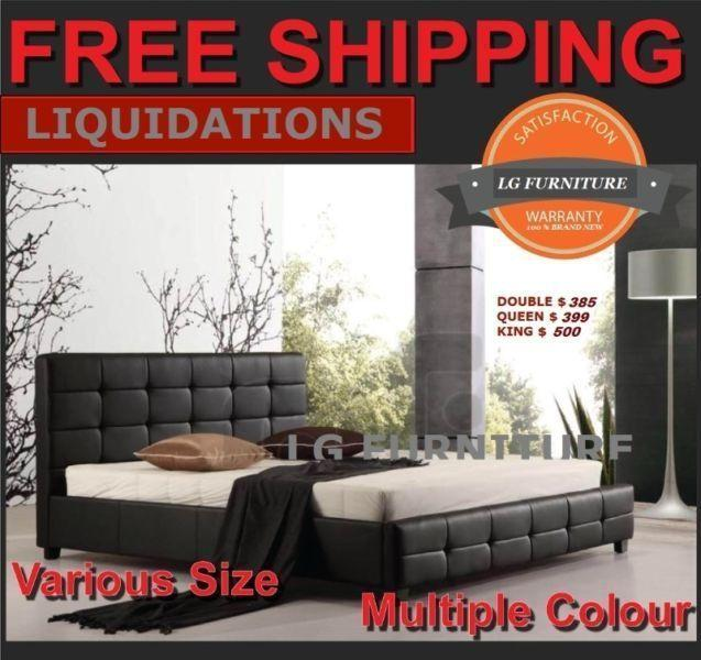 NEW LUXURY STYLE KING,QUEEN & DOUBLE BED FRAME BED & MATTRESS
