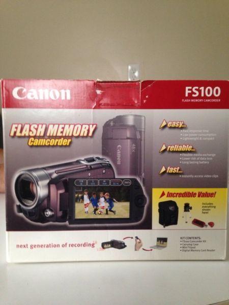 Brand new canon FS 100 flash memory camcorder