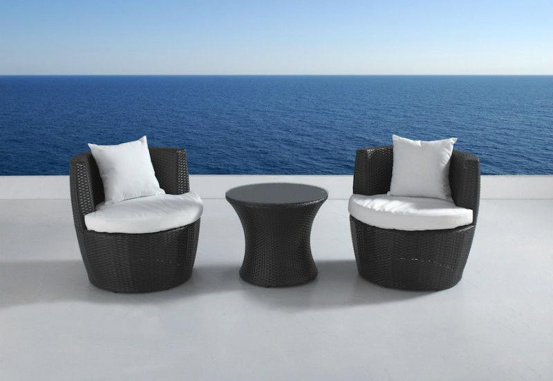 Outdoor Aluminum and Rattan Bistro and Sectional Sofa Sets