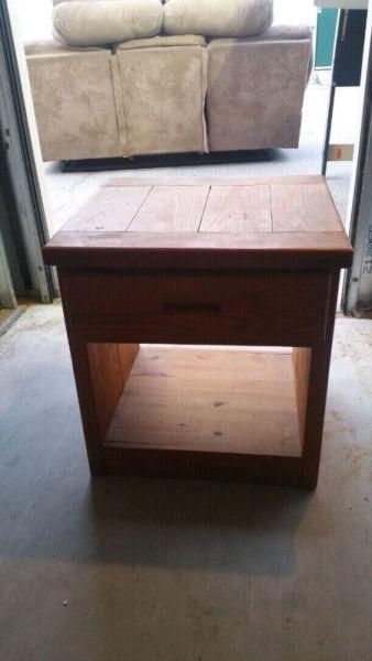 Solid oak dresser with mirror and night