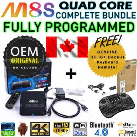 ★M8S Android TV Box OEM Amlogic Quad Core + Keyboard★