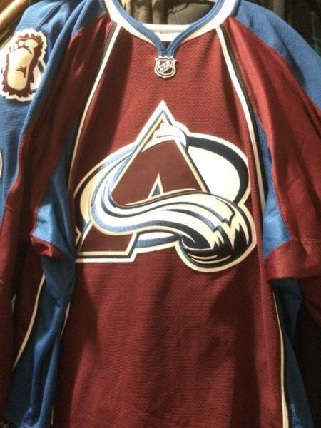 Game used Colorado Avalanche jersey