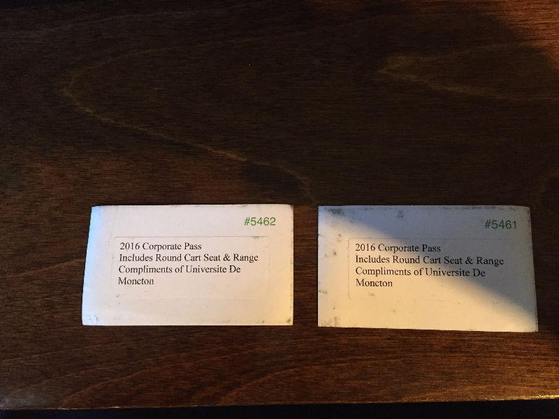 2 corporate tickets for Royal Oaks golf course