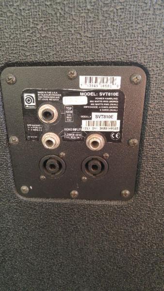 Ampeg SVT-810E 8x10 bass speaker cabinet