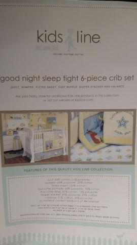 Good Night Sleep Tight 9 Piece Crib Set