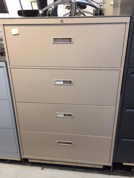 Filing Cabinet-4 Drawer-Steelcase-Beige-ONLY $250