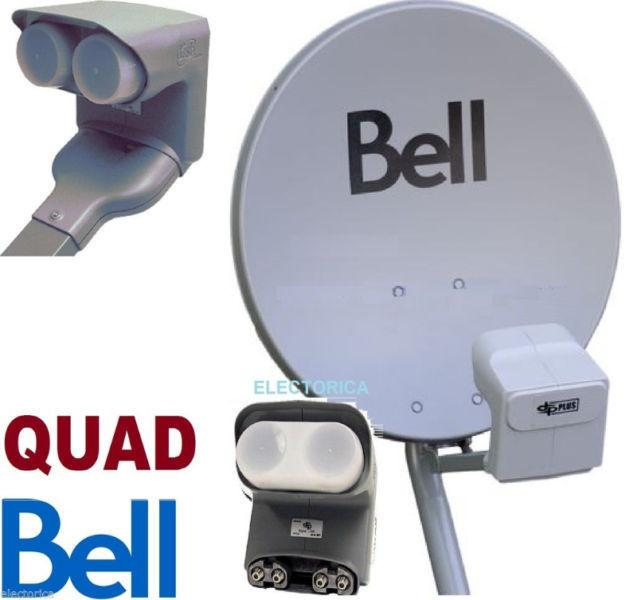 20' BELL SATELLITE HD DISH WITH DP QUAD LNB & BUILT IN SWITCHES