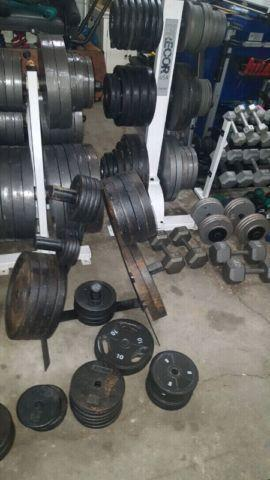 Bars and weight plates