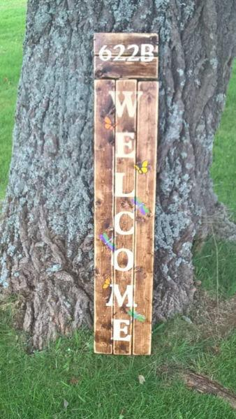 Handcrafted Wooden Welcome Signs