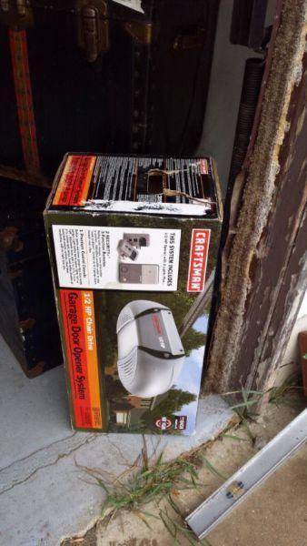 Garage door opener system brand new!