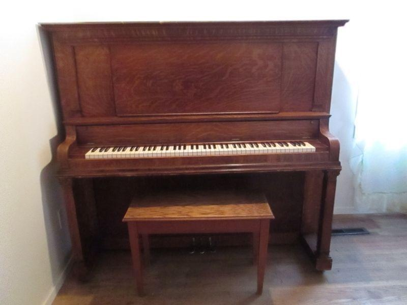 For Sale - UPRIGHT STORY & CLARK PIANO w/BENCH