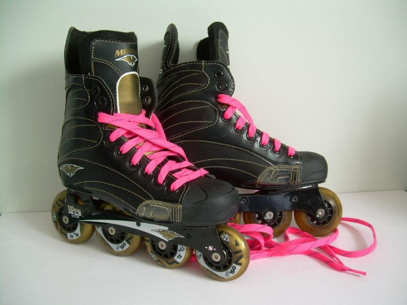 Mission Helium Quatro 750 Inline Roller-Hockey Skates - Size 6