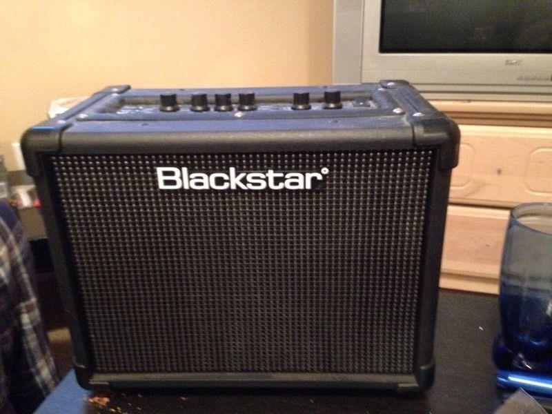 Black guitar amp
